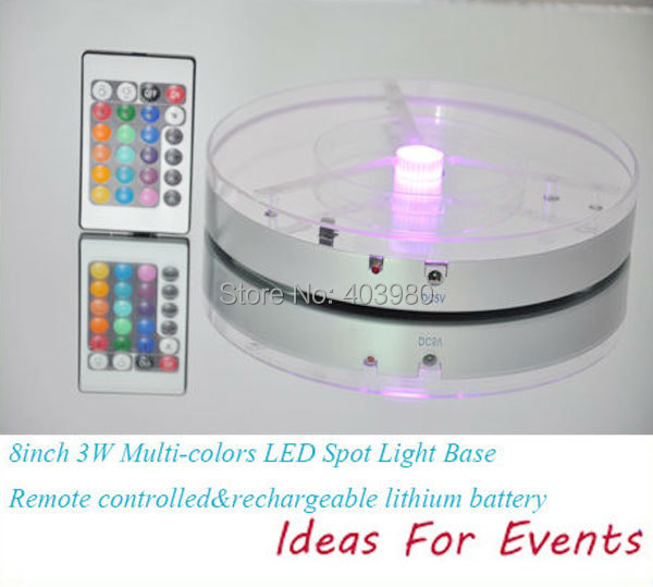 2015 New Frozen Wholesale! Rechargeable Remote Control 8inch Led Wedding Centerpieces, 16colors And for Work Function Lights