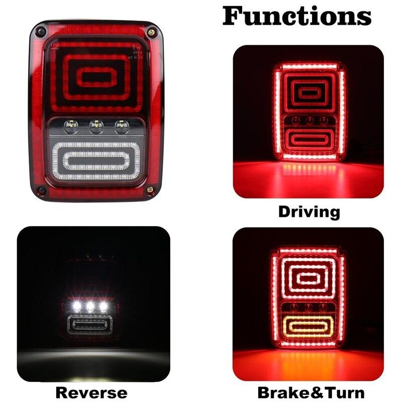 Новый задний Стиль Змея LED реверсивного поворота тормоза хвост свет сигнала на 2007 - 2017 Jeep Вранглер JK