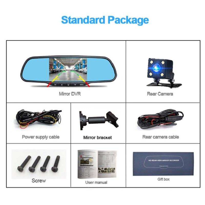 Jansite Car Dvr Dual Lens Mirror Bracket Installation Car Camera