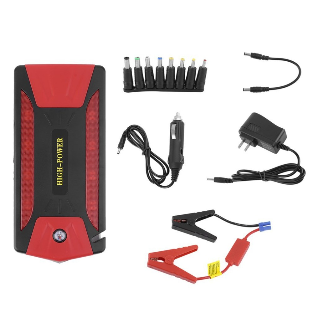 цена на 82800mAh Car Jump Starter Portable Emergency Battery Charger Multi-Function Mini 300A Automobile Booster Power Bank