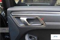 Stainless Steel Inner Door Handle Bowl Cover Trims 4pcs Set For Porsche Macan 2014 2015