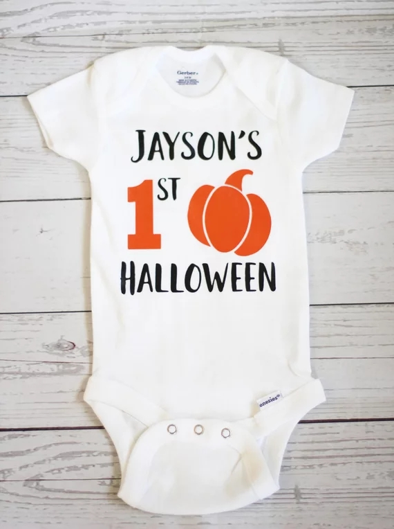 customize name My first halloween fall baby shower bodysuit onepiece romper Outfit  kids t shirts birthday tees singlets-in Party Favors from Home   Garden ... 9aef547f9300