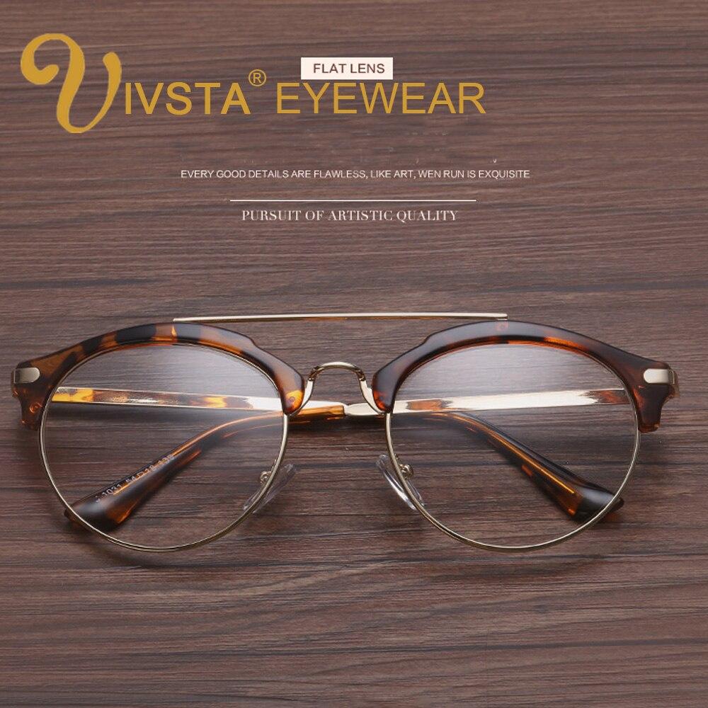 IVSTA Schildkröte Brillen Rahmen Vintage Retro Gläser Frauen Halb ...