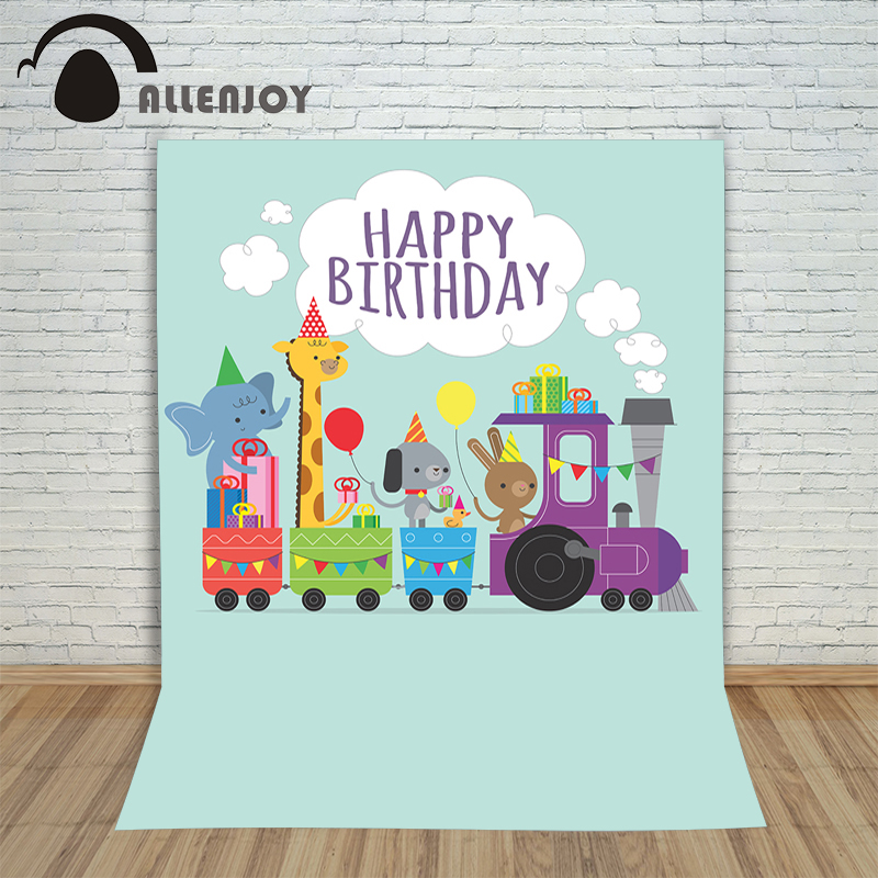 Photo background vinyl birthday photo balloons animal candles greet  photocall Happy party Photography studio prop kids birthday balloons mini crown number balloons boy happy birthday candy princess balloon 40 30cm not include stander