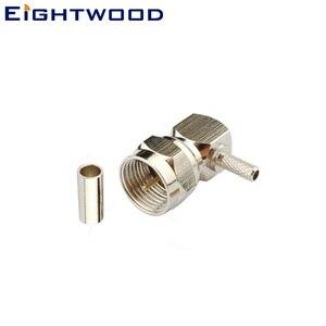 Восьмиядерный разъем F штекер радиочастотный коаксиальный разъем адаптер правый угол для RG 179 коаксиальный кабель контактный припой контак...