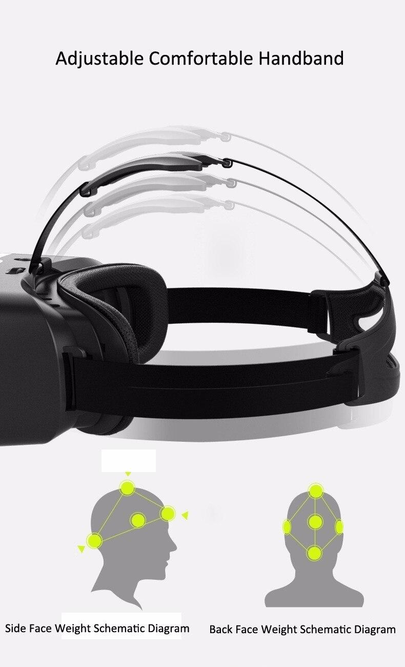 VR Shinecon 2.0 Google Cardboard VR BOX 2.0 Virtual Reality goggles VR 3D Glasses Immersive for 4.5-6.0 inch smartphones 31