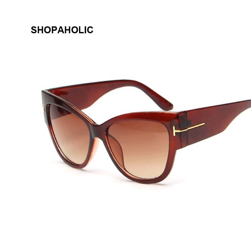 New Gradient Points Cat Eye Women Sunglasses Tom High Fashion Sun Glasses Female Cateyes Sunglasses Women Brand Designer Oculos 3