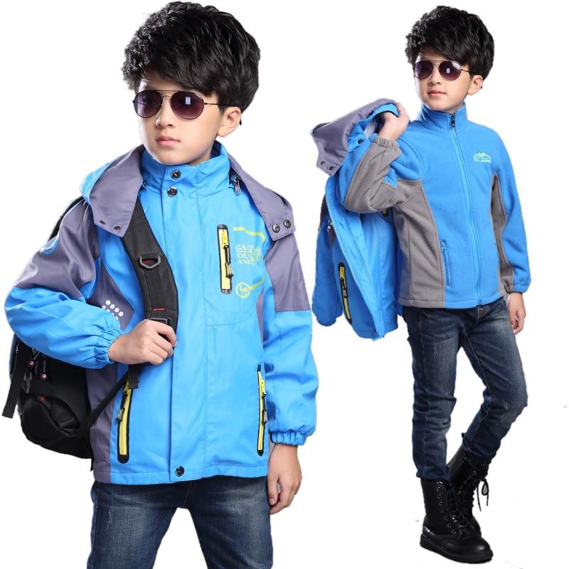 Teenage boy spring hooded coat boy jacket boys outerwear kids clothes 8 12 age kids coat vetement enfant garcon hiver waterproof
