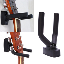 Hot sell 1 Pcs Guitar Hanger Hook Holder Wall Mount Stand Rack Bracket Display Guitar Bass Screws String Instrument Accessories guitar ukelele wall mount stand hanger rack hook wooden base bracket universal bass display compact easy to install
