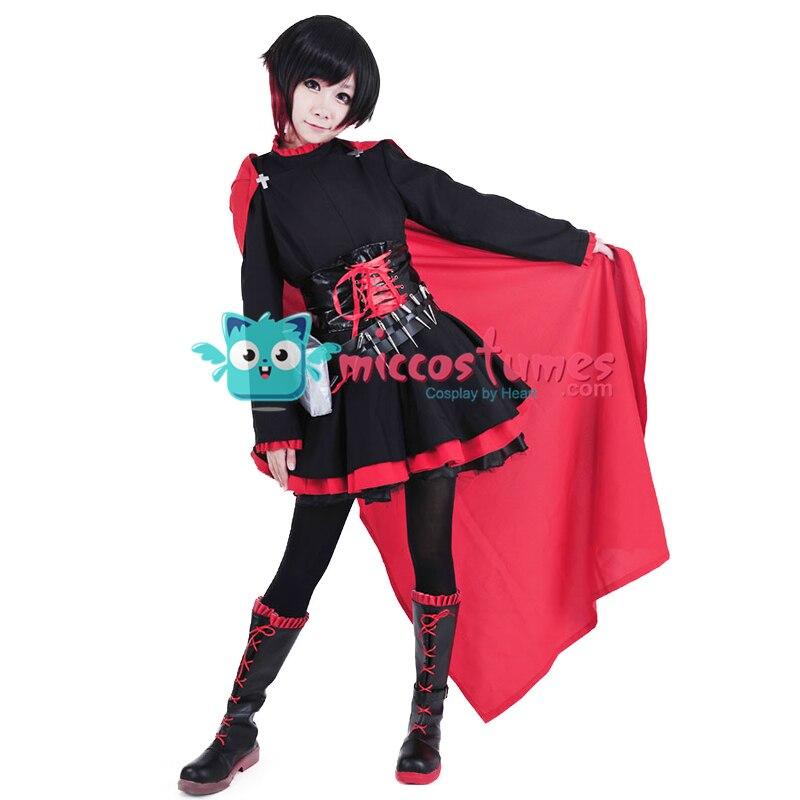 Ruby Rose Cosplay Costume Anime Women Dress Cloak