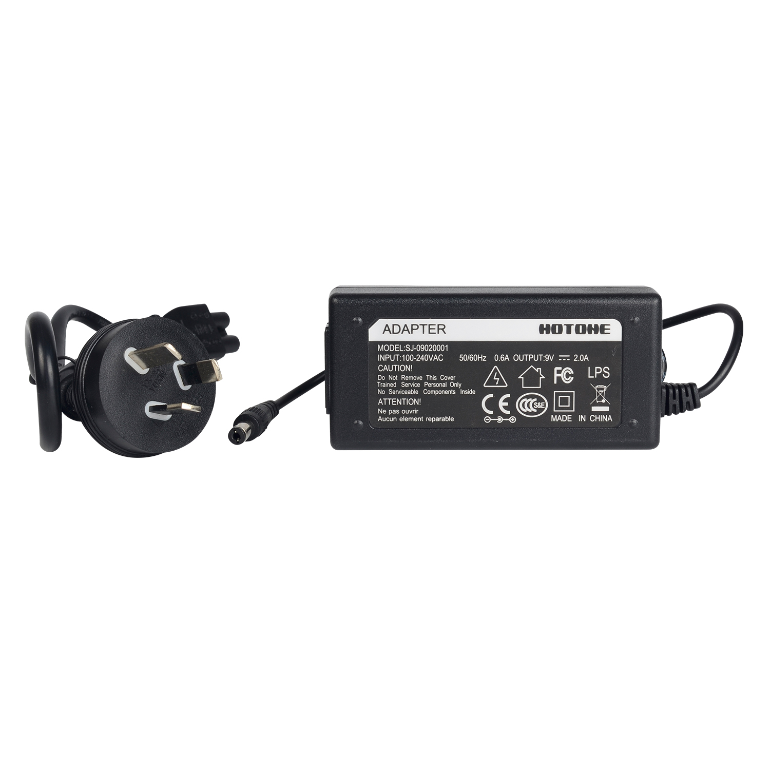 Hotone 9V2A Power Adapter Negative Center Noiseless 100-240V Converter AU Plug I Type for Guitar Effect Pedal Power Supply акустика центрального канала mt power elegance center black