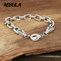 100% Genuine 925 Sterling Silver Bright Silver Punk Dragon Link Chain Bracelet Thai Silver Jewelry for Man or Women