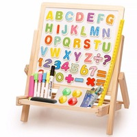 Mini Wooden Easel for Painting Magnetic chalkboard Easel Drawing Table Laptop Accessories Painting Art Supplies For Children