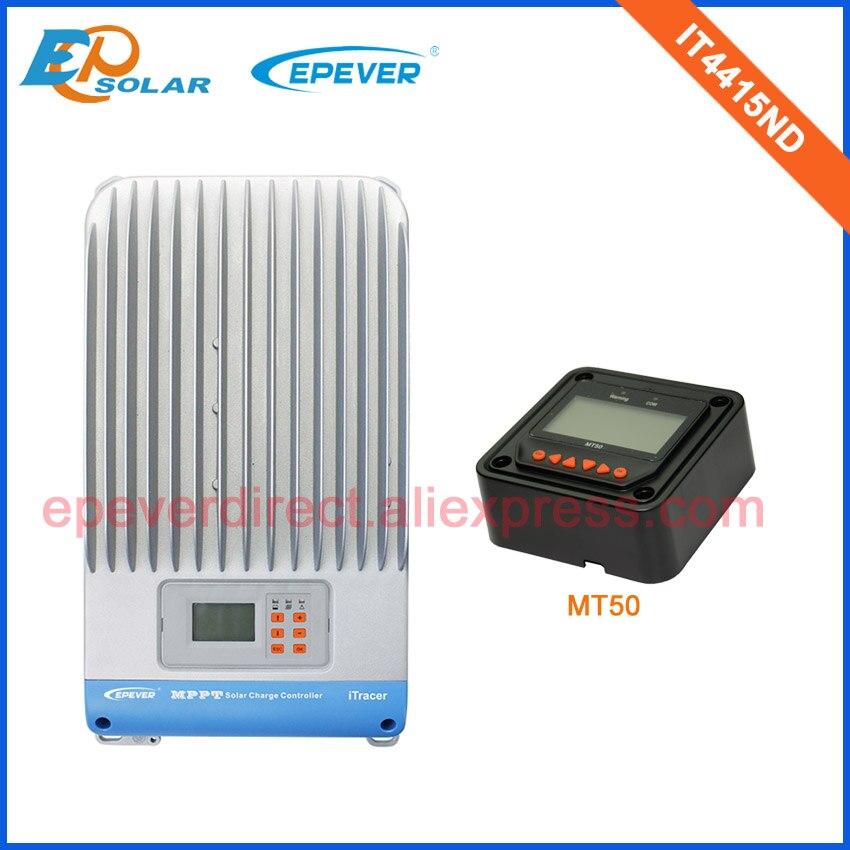 Affichage LCD EPEVER contrôleur solaire IT4415ND MT50 compteur à distance Max PV entrée 150 V batterie 12 V/24/48 V interrupteur automatique travail 45A