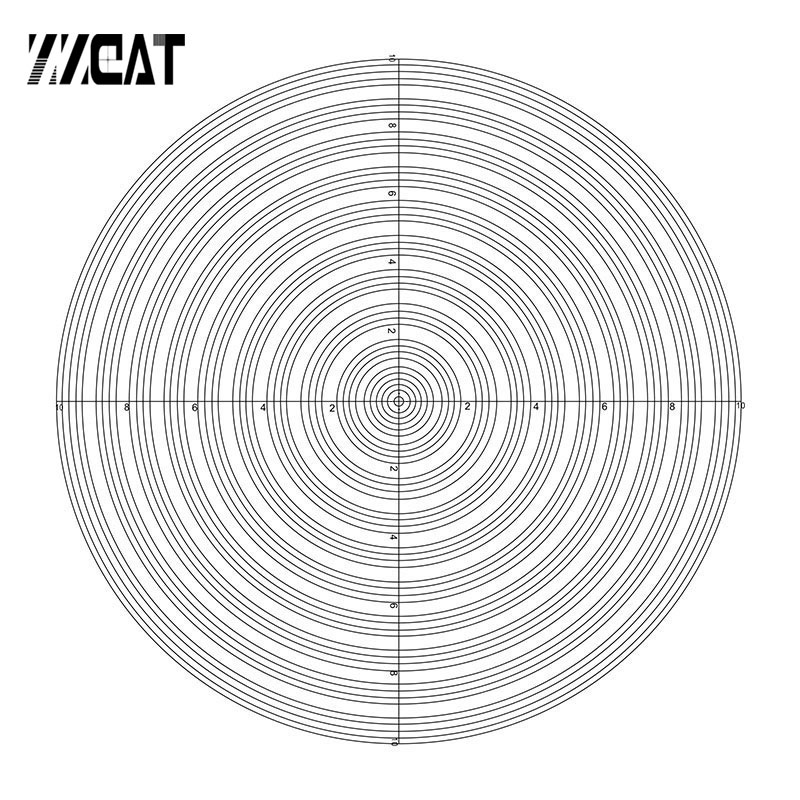 921 Concentric Circle Micrometer Optical Lab Slides Calibration Reticle for Optical Laboratory Microscope Part