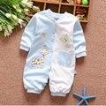 0-12 M bebé recién nacido ropa de algodón de la marca de rayas conjunto de manga larga para niños infantiles del bebé ropa deportiva traje chaqueta de traje de mameluco