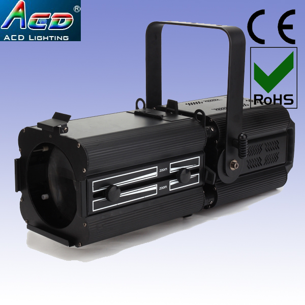 wholesale 2XLOT 200w 4in1 rgbw led ellipsoidal zoom,theater studio zoom,profile spot lekos lights freeshipping tiptop 200w led profile spot rgbw 4in1 stage wash effect cast aluminum gobo frame spring clip safety zoom tp 007