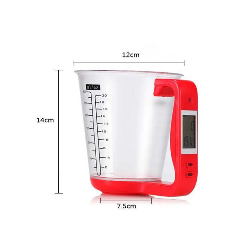 Portable Electronic Measuring Cups With LCD Display Liquid Measure Cup  Household Scales Kichen Tools E2S In Measuring Tools From Home U0026 Garden On  ...