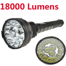 High Power 18000 Lumens 15 x CREE XM-T6 LED 5 Light Modes Waterproof Super Bright Flashlight Torch Lantern For Hunting Camping
