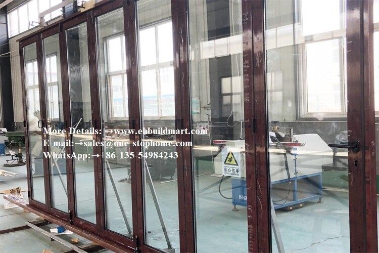 Normes australiennes insonorisées, porte en verre trempé Double/Triple vitrage, nouvelle conception portes coulissantes en verre à deux volets