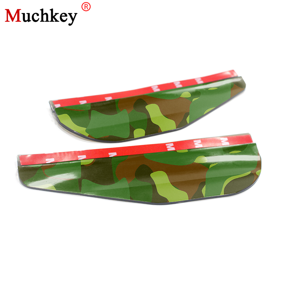 Universal Flexible PVC Camouflage Rearview Mirror Rain Shade Rainproof Blade Car Back Mirror Eyebrow Rain Cover 2Pcs Car Styling