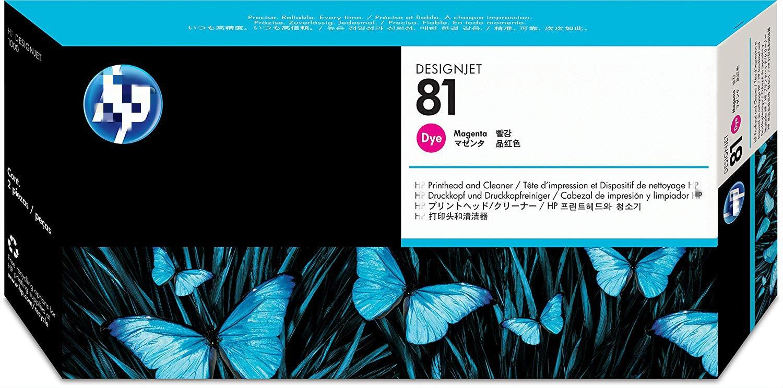 Tête d'imprimante d'origine pour tête d'impression HP 81 C4952A ou avec nettoyeur de tête d'impression pour la série DesignJet 5000, Magenta