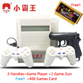 Subor matón D31 TV consola de juegos de 8 bits de Doble mango clásico nostálgico juego de disparos + 400 EN 1 tarjeta de juego de La Familia de Videojuegos consolas