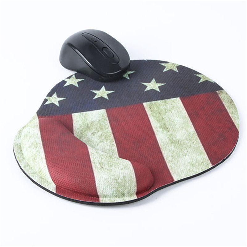 Soft Thicken PC Wrist Mouse Pad Mat Star Flag Pattern For Optical/Trackball Mouse Mice Pad