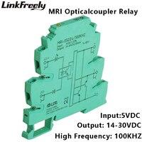 MRI 05D24 100KHZ PLC LED Optical Coupler Relay 5VDC 8mA Input Output 14 30VDC 50mA Interface Voltage Relay Module DIN Rail