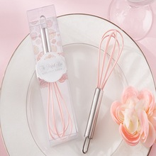 "(100pcs/lot)FREE SHIPPING+Bridal Shower Favors and Gifts ""The Perfect Mix"" Pink Kitchen Whisk Wedding Favors Egg Beater Whisks"