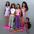 Original Muñeca de Piel Negro/Edición Limitada de Muñecas con 5 Articulaciones Flexible/África Muñeca Espeso Cabello Negro Para El Regalo de la Muñeca Barbie navidad