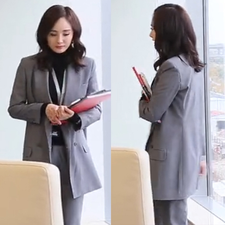 Negotiator Yangmitongwei Same Korean Version Of The Little Suit Jacket Spring 2019 Notched Women Jackets And Coats Suit Women