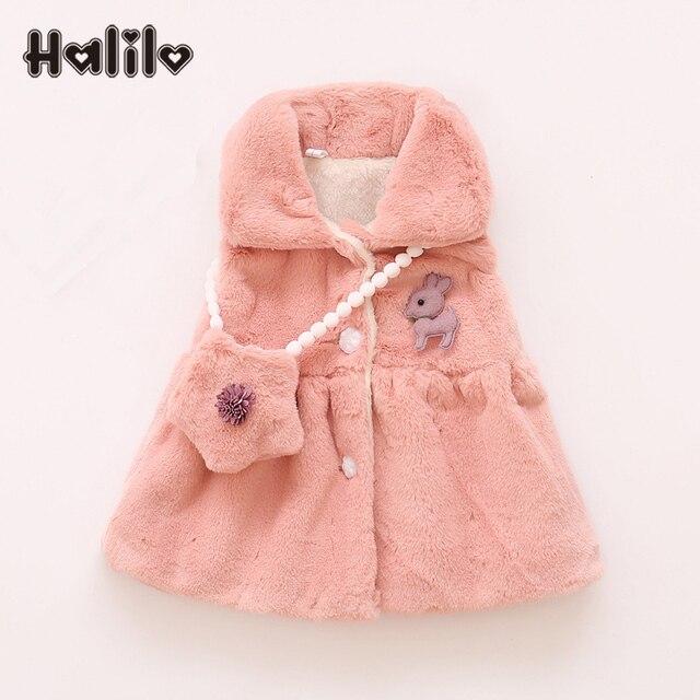 Halilo Baby Girl Dress European Baby Birthday Dresses Winter Warm