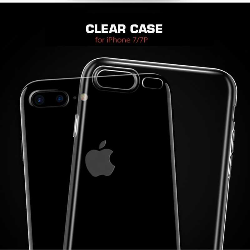 Top Kwaliteit Siliconen Case Voor iPhone X XS 11 pro max 7 8 6 6s plus 5 5S SE Transparant Clear TPU Gel Cover View Capa
