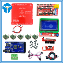 Reprap Ramps 1.4 Kit With Mega 2560 r3 + Heatbed mk2b + 12864 LCD Controller + A4988 Driver + Endstops + Cables For 3D Printer