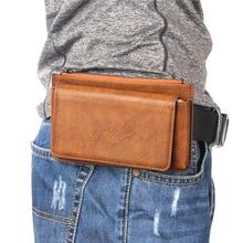 BISI GORO cow leather Wear belt pocket phone coin men waist bag Multi-function porta tarjetas outdoor Waterproof  heuptas heren