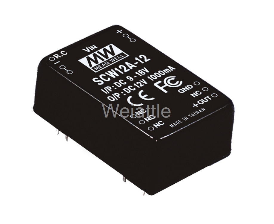 MEAN WELL original SCW12A-15 15V 800mA meanwell SCW12 15V 12W DC-DC Regulated Single Output ConverterMEAN WELL original SCW12A-15 15V 800mA meanwell SCW12 15V 12W DC-DC Regulated Single Output Converter