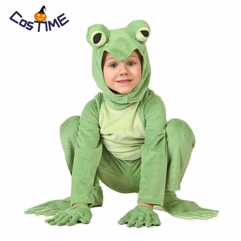Kids Frog Prince Costume Little Frog Costume Animal Onesies Jumpsuit Fancy  Dress Carnival Halloween Costumes Animal f5d6af354