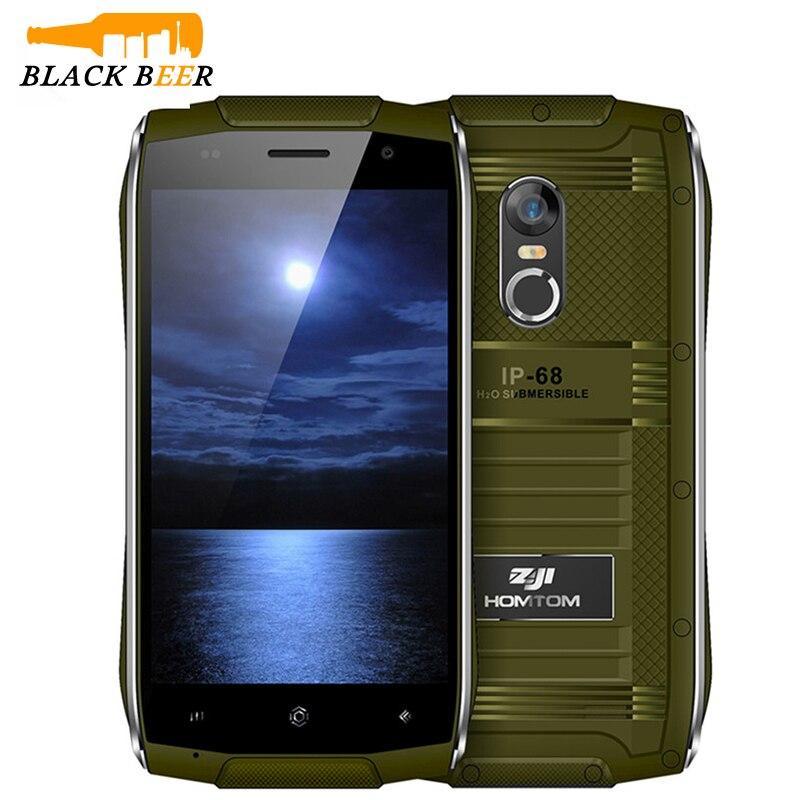 bilder für Original HOMTOM ZOJI Z6 Handy Smartphone MT6580 Quad Core Fingerabdruck 5MP Dual-kamera 4,7 Zoll 3G Dual SIM Wasserdicht IP68