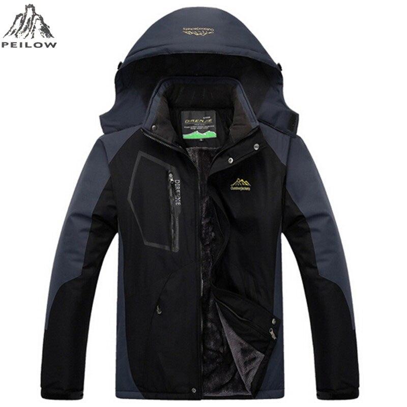 Peilow Для женщин и Для мужчин зимнее пальто верхняя одежда флис толстый теплый хлопок-мягкий куртка ветрозащитная Водонепроницаемая Для мужч...
