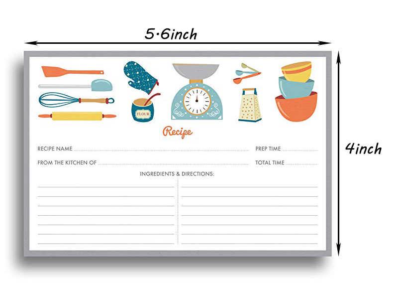 20 tấm Đồ Dùng Nhà Bếp Công Thức Thẻ Đôi Thẻ Hai Mặt 4x5.6 inches cardstock giấy văn phòng phẩm cho nhà bếp lời mời thẻ