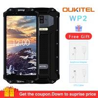 OUKITEL WP2 IP68 Водонепроницаемый пыль устойчивый к ударам мобильный телефон 4G Оперативная память 64G Встроенная память Octa Core 6,0 10000 mAh смартфон с о