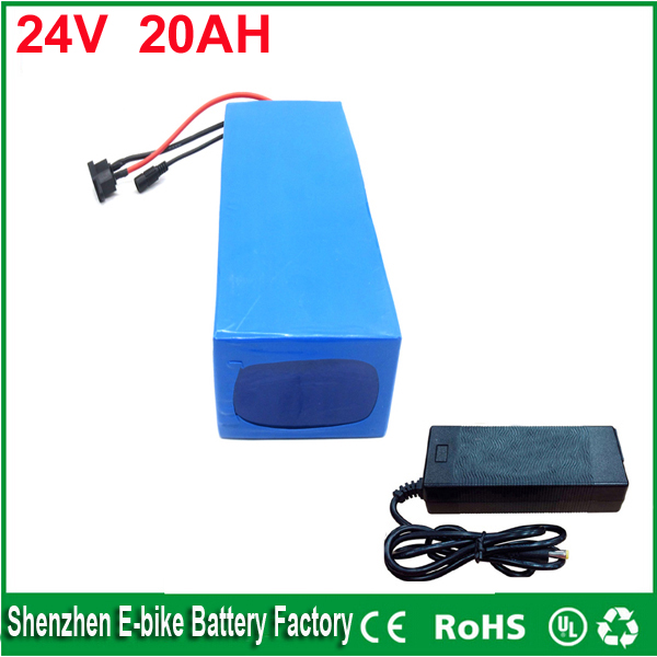 ebike lithium battery 24v 20ah lithium ion bicycle 24v electric scooter battery for kit electric bike 700w with BMS , Charger 24v 15ah lithium battery pack 24v 15ah battery li ion for 24v bicycle battery pack 350w e bike 250w motor with 15a bms charger