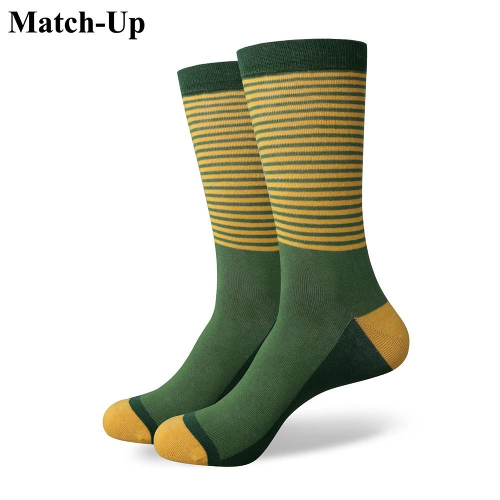 Match-Up Male Socks Multicolour Stripe Sock Male Cotton Socks Student Socks