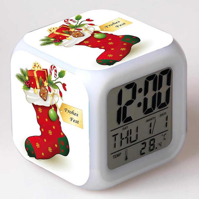 Natal Papai Noel Boneco Elk Speelgoed Figma LED Colorido Flash light Touch presente de ano Novo Kids Brinquedos para Festa De Natal