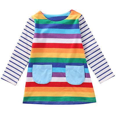 Rainbow Wishes Long Sleeve Dress