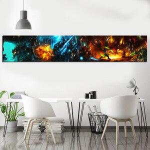 Image 3 - 1 шт. игра Художественная печать Wow World of Warcraft плакат HD Настенная картина Warcraft холст картины искусство для домашнего декора настенное искусство