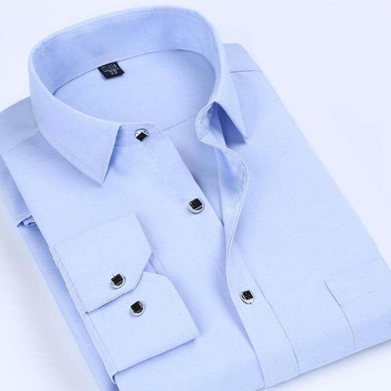 New Arrival font b Men b font Dress font b Shirt b font Plus Size 5XL