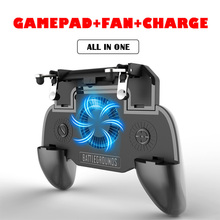 For Android Phone iPhone Controller gamepad Joystick R1 L1 Shooter Joypad Game Pad Cooler Fan with 2000/4000mAh Power Bank