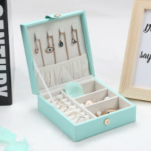 Кожаная Коробка для хранения ювелирных изделий, органайзер, ожерелье, браслет, серьги, чехол, держатель, подарок, портативный, для путешествий, ювелирные украшения, Органайзер